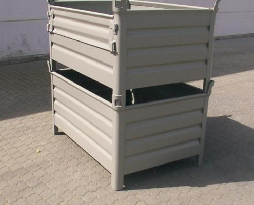 Stahlblechbehälter ohne Klappe