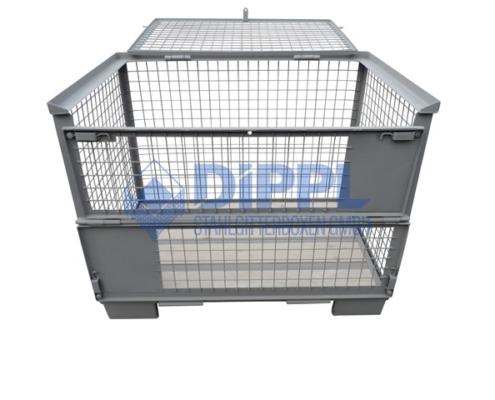 Gitterboxen mit abschließbarem Deckel