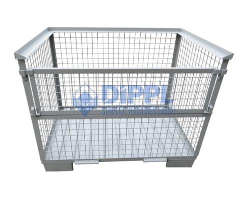 Gitterboxen mit Stahlblechboden