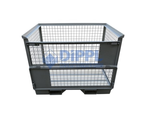 Gitterboxen mit Einfahrschuhen