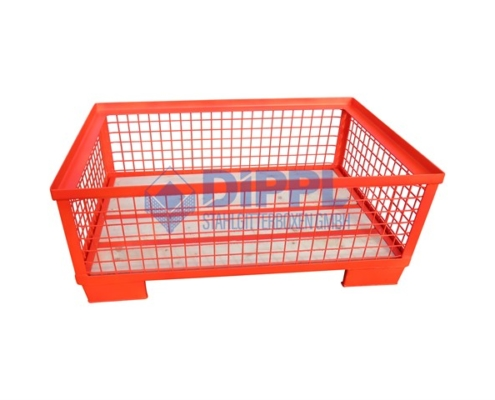 rote halbhohe Gitterbox