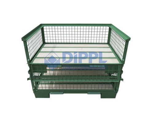 grüne Gitterboxen